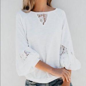 Vici Cloud Nine Lace Knit Top